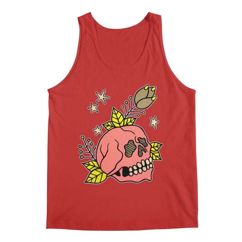 Pink Skull Men's Regular Tank by pesst's Artist Shop