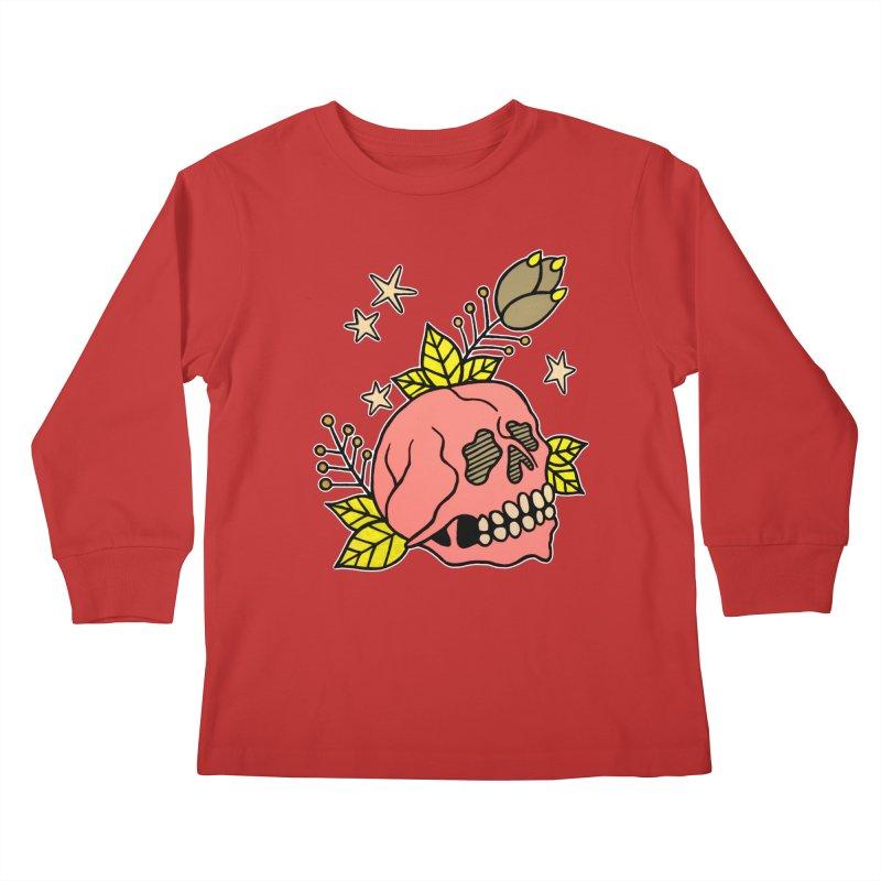 Pink Skull Kids Longsleeve T-Shirt by pesst's Artist Shop