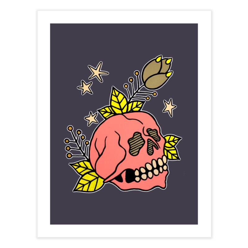 Pink Skull Home Fine Art Print by pesst's Artist Shop