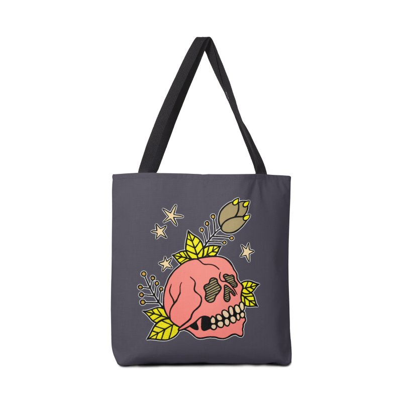 Pink Skull Accessories Tote Bag Bag by pesst's Artist Shop
