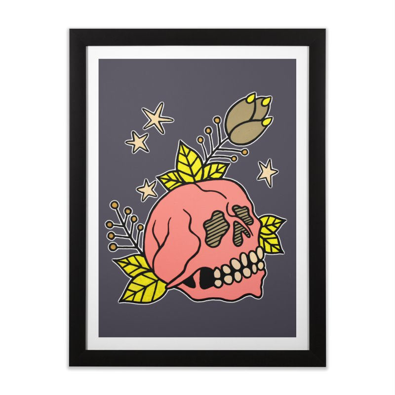 Pink Skull Home Framed Fine Art Print by pesst's Artist Shop