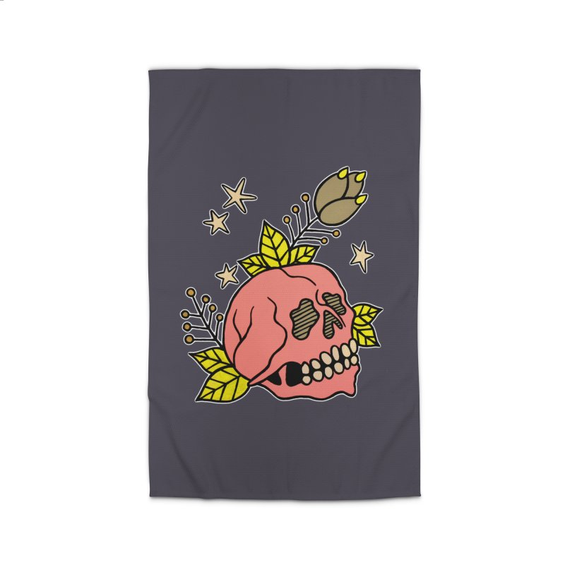 Pink Skull Home Rug by pesst's Artist Shop