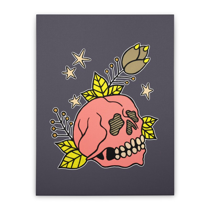 Pink Skull Home Stretched Canvas by pesst's Artist Shop
