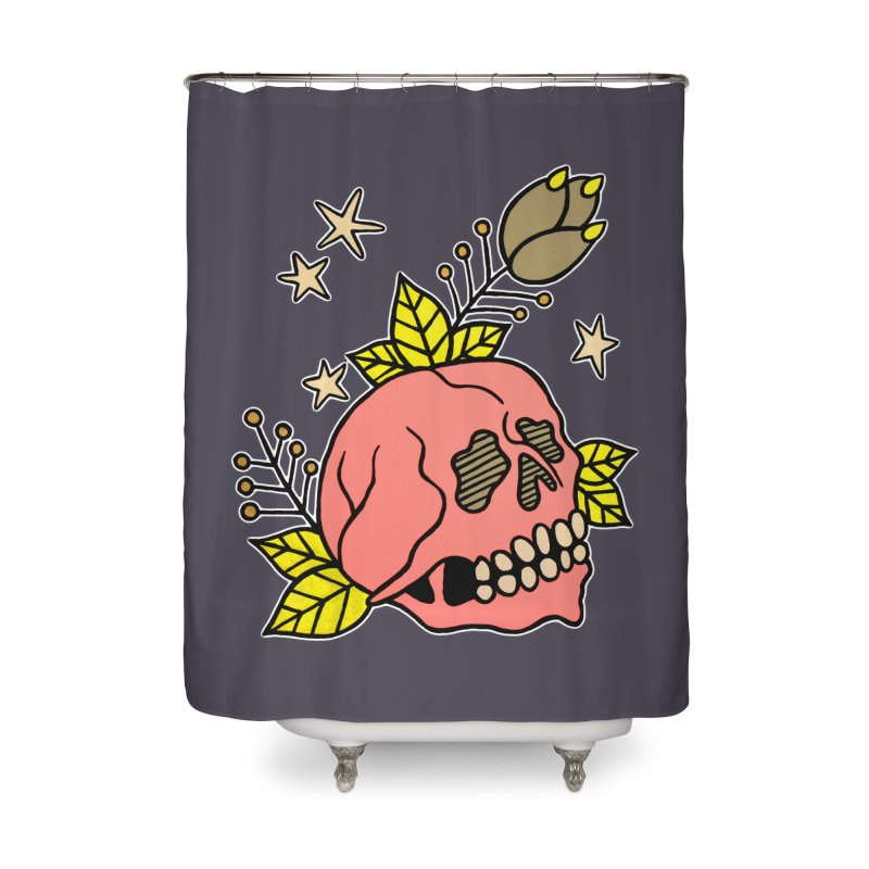 Pink Skull Home Shower Curtain by pesst's Artist Shop