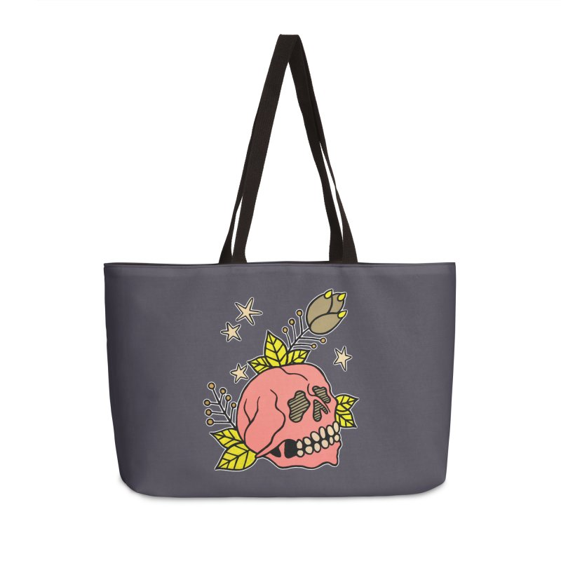 Pink Skull Accessories Weekender Bag Bag by pesst's Artist Shop