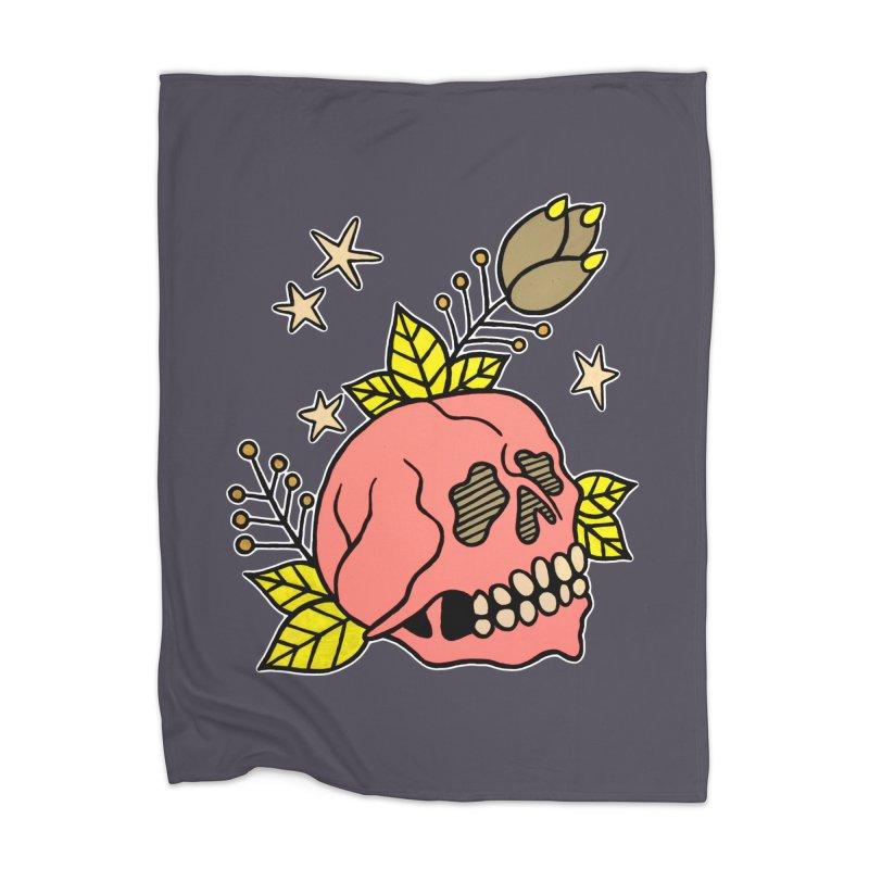 Pink Skull Home Blanket by pesst's Artist Shop