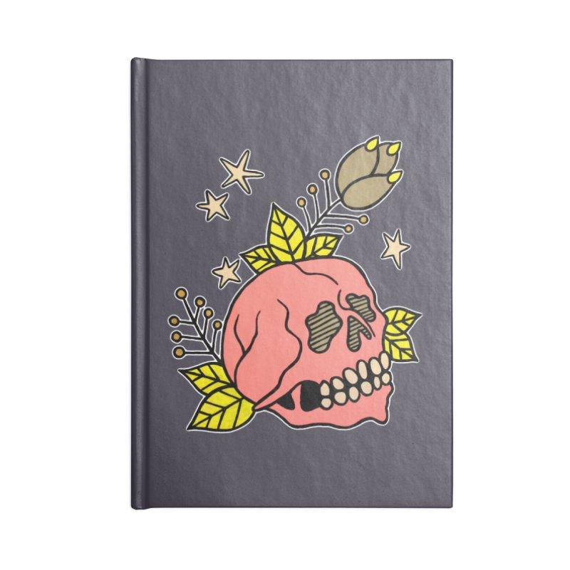 Pink Skull Accessories Notebook by pesst's Artist Shop