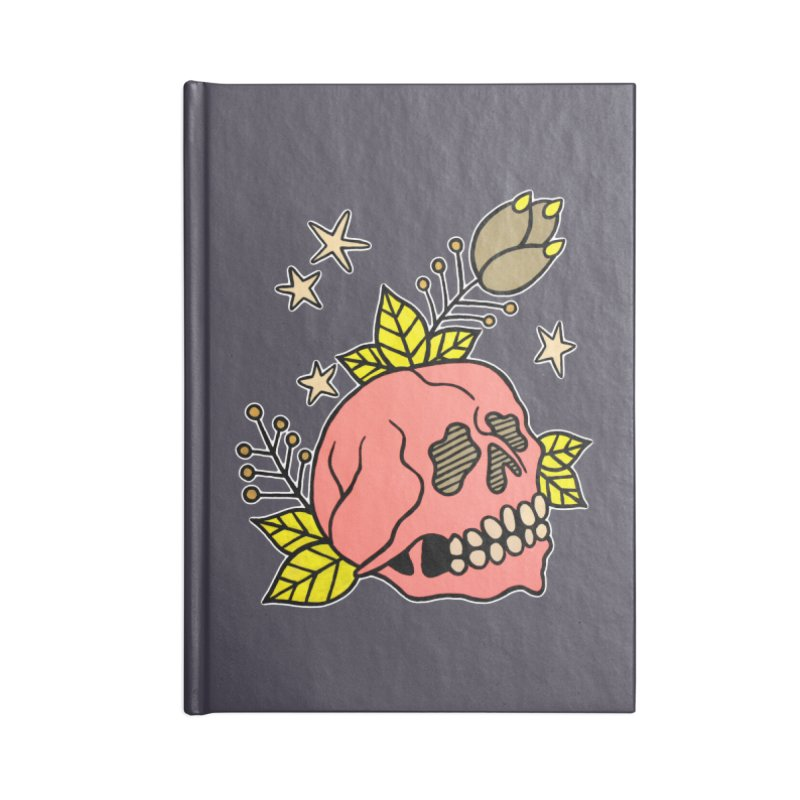 Pink Skull Accessories Lined Journal Notebook by pesst's Artist Shop