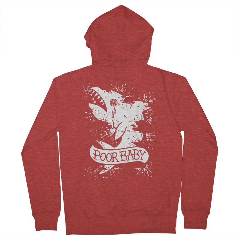 Poor Baby Splatter Shark Women's French Terry Zip-Up Hoody by pesst's Artist Shop