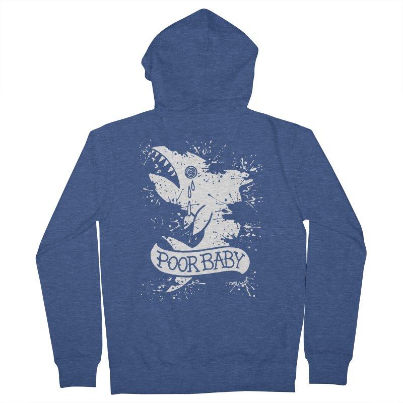 Poor Baby Splatter Shark Men's French Terry Zip-Up Hoody by pesst's Artist Shop