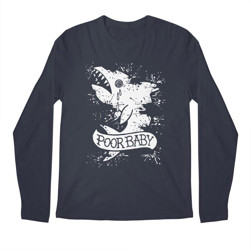 Poor Baby Splatter Shark Men's Regular Longsleeve T-Shirt by pesst's Artist Shop
