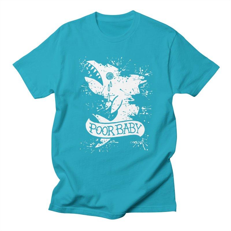 Poor Baby Splatter Shark Men's T-Shirt by pesst's Artist Shop