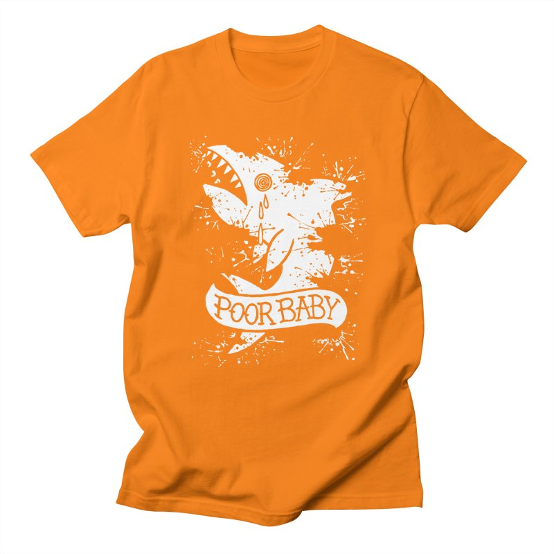 Poor Baby Splatter Shark Men's Regular T-Shirt by pesst's Artist Shop