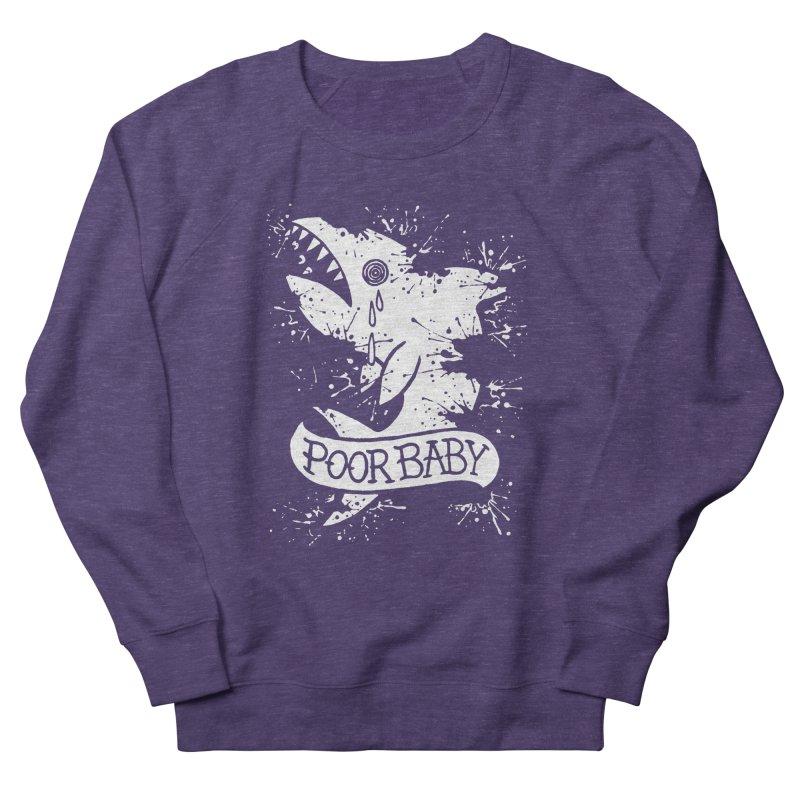 Poor Baby Splatter Shark Women's French Terry Sweatshirt by pesst's Artist Shop