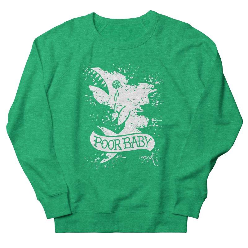 Poor Baby Splatter Shark Men's French Terry Sweatshirt by pesst's Artist Shop
