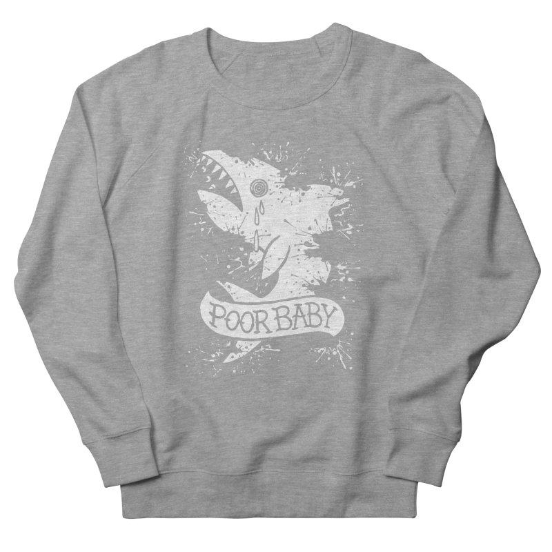 Poor Baby Splatter Shark Men's Sweatshirt by pesst's Artist Shop