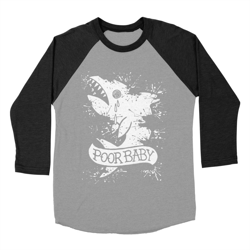 Poor Baby Splatter Shark Women's Baseball Triblend T-Shirt by pesst's Artist Shop