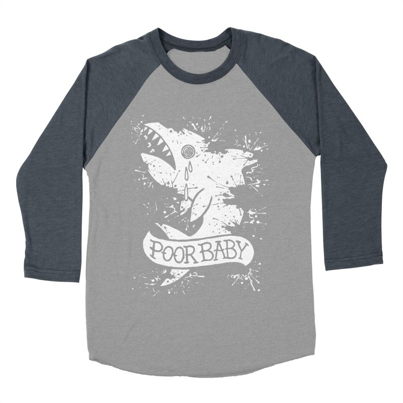 Poor Baby Splatter Shark Women's Baseball Triblend Longsleeve T-Shirt by pesst's Artist Shop