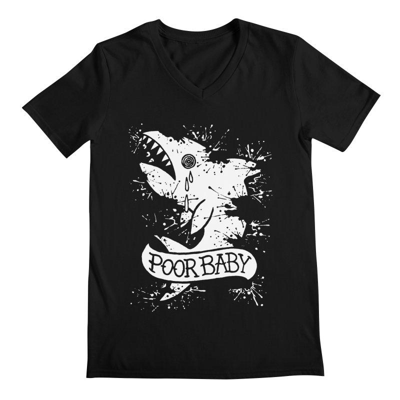 Poor Baby Splatter Shark Men's V-Neck by pesst's Artist Shop