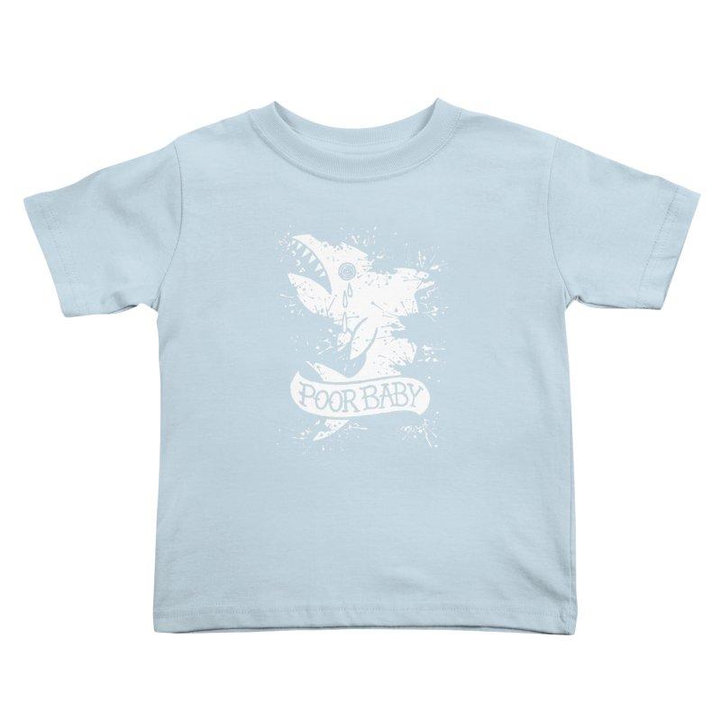 Poor Baby Splatter Shark Kids Toddler T-Shirt by pesst's Artist Shop