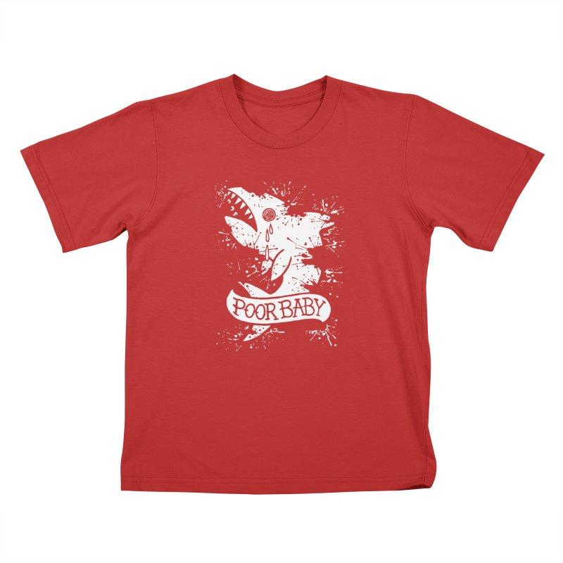 Poor Baby Splatter Shark Kids T-Shirt by pesst's Artist Shop