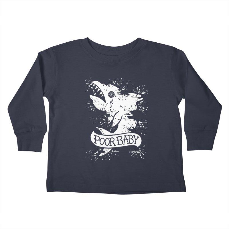 Poor Baby Splatter Shark Kids Toddler Longsleeve T-Shirt by pesst's Artist Shop