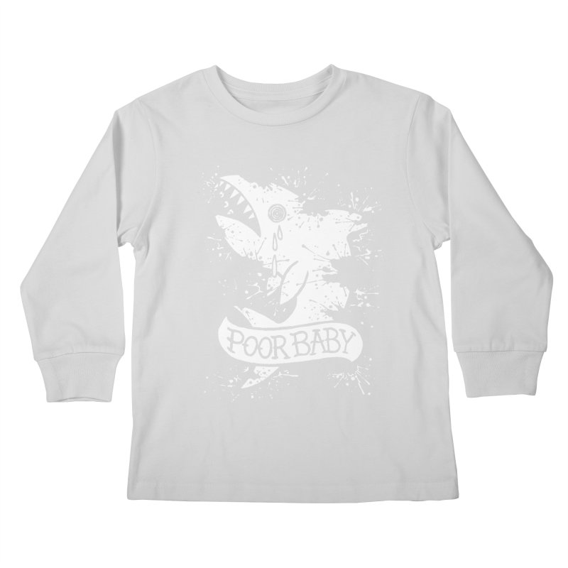 Poor Baby Splatter Shark Kids Longsleeve T-Shirt by pesst's Artist Shop