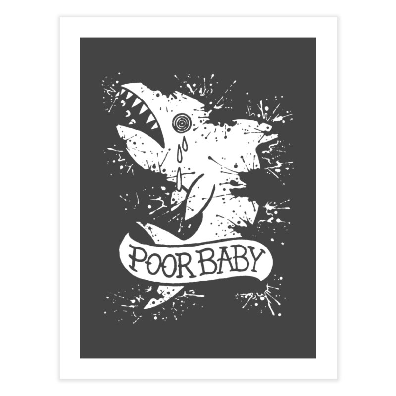 Poor Baby Splatter Shark Home Fine Art Print by pesst's Artist Shop