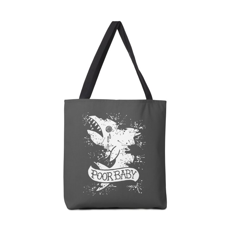Poor Baby Splatter Shark Accessories Tote Bag Bag by pesst's Artist Shop