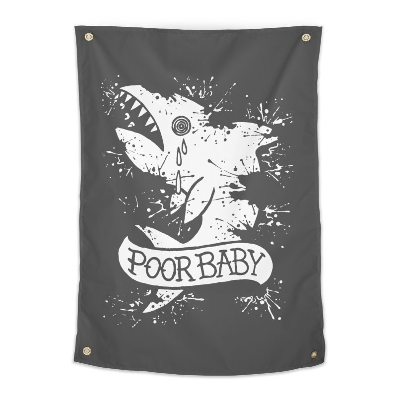 Poor Baby Splatter Shark Home Tapestry by pesst's Artist Shop