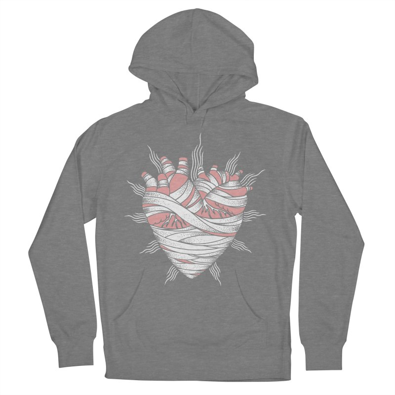Heart of the Mummy Women's French Terry Pullover Hoody by pesst's Artist Shop