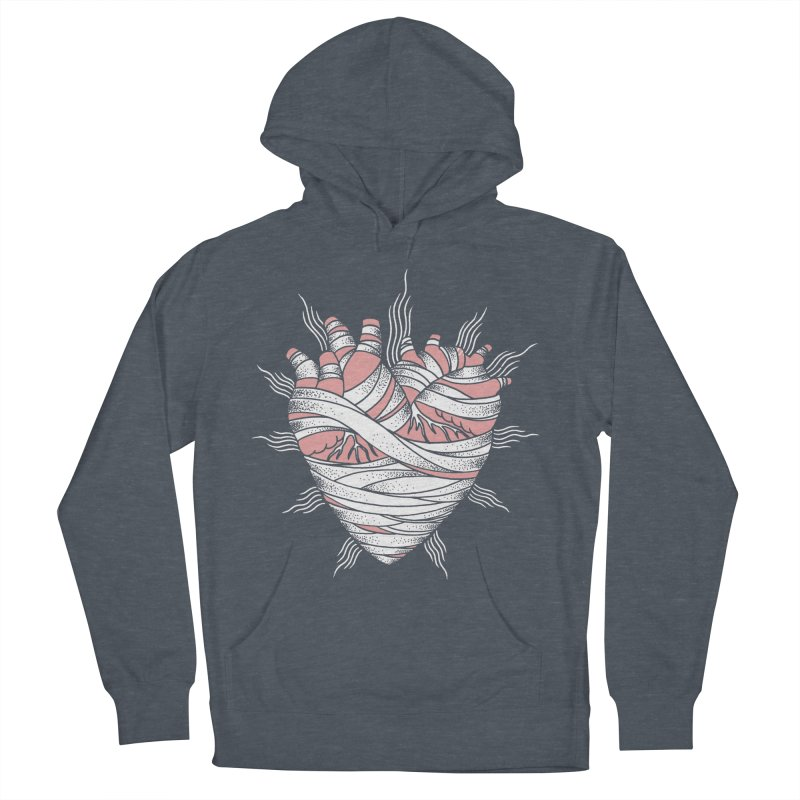 Heart of the Mummy Men's French Terry Pullover Hoody by pesst's Artist Shop