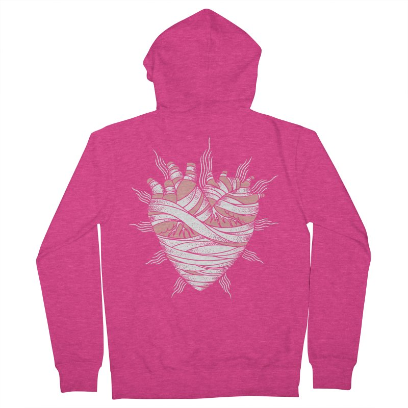 Heart of the Mummy Women's French Terry Zip-Up Hoody by pesst's Artist Shop