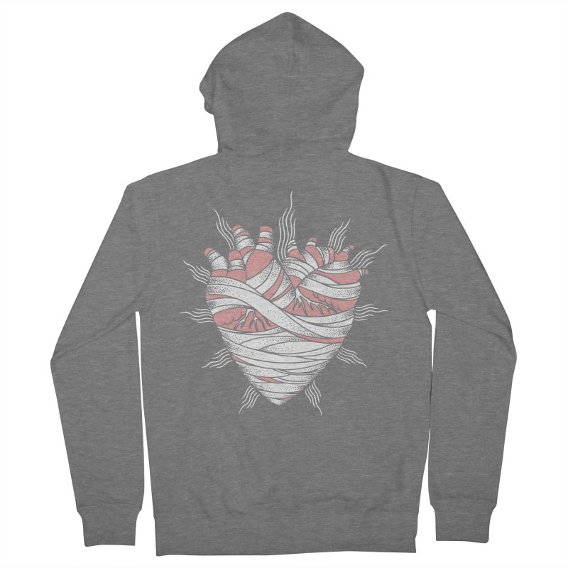 Heart of the Mummy Men's French Terry Zip-Up Hoody by pesst's Artist Shop