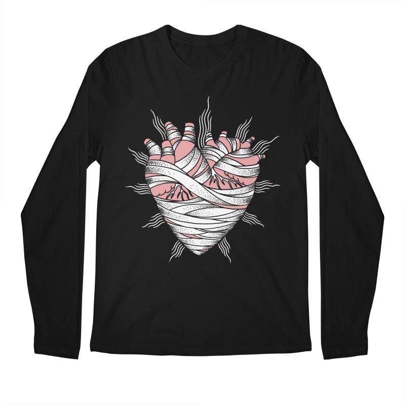 Heart of the Mummy Men's Regular Longsleeve T-Shirt by pesst's Artist Shop