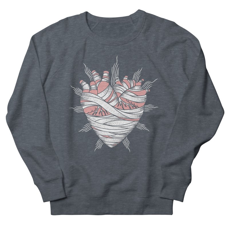 Heart of the Mummy Women's French Terry Sweatshirt by pesst's Artist Shop
