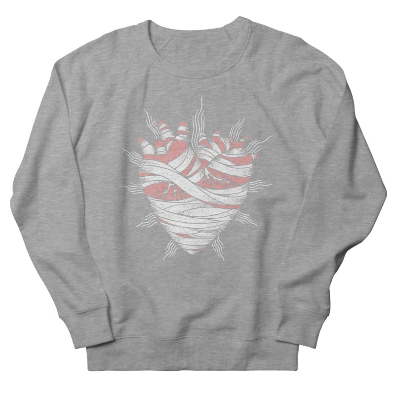 Heart of the Mummy Men's French Terry Sweatshirt by pesst's Artist Shop