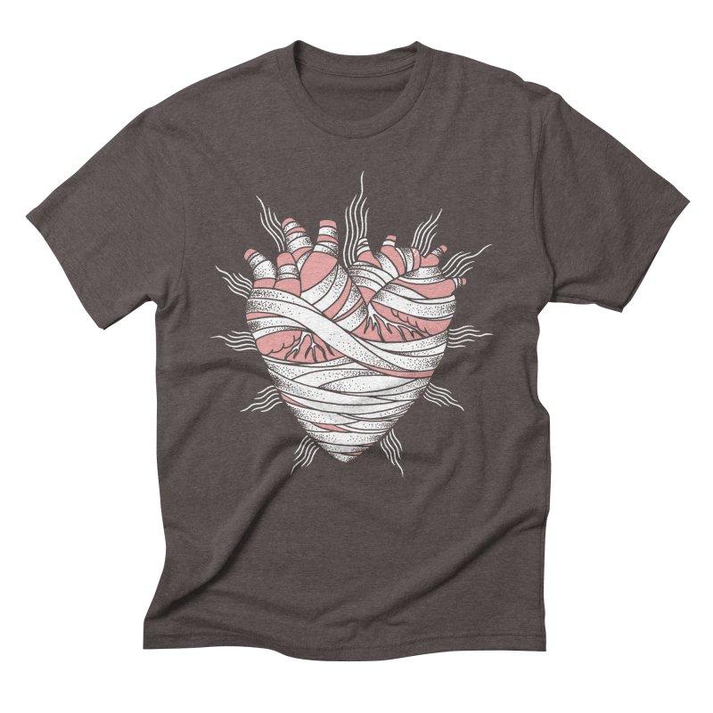 Heart of the Mummy Men's Triblend T-Shirt by pesst's Artist Shop