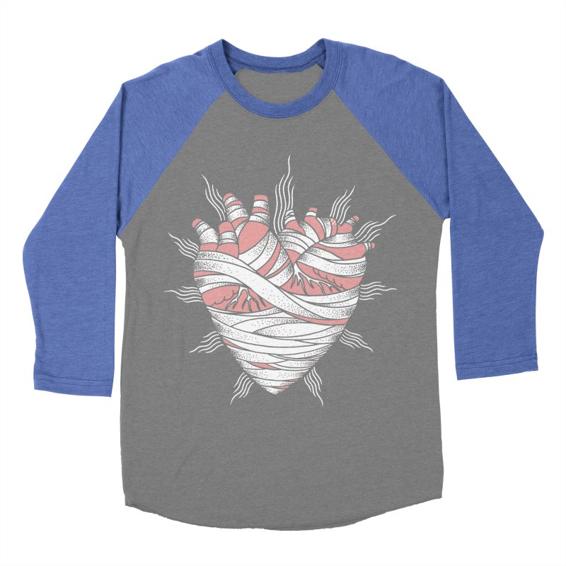 Heart of the Mummy Men's Baseball Triblend Longsleeve T-Shirt by pesst's Artist Shop