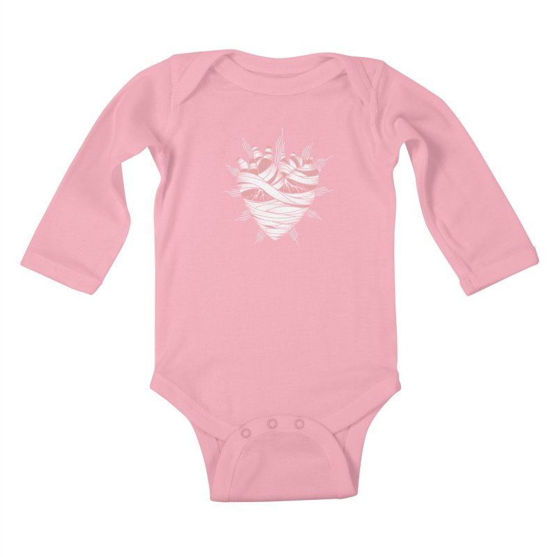 Heart of the Mummy Kids Baby Longsleeve Bodysuit by pesst's Artist Shop