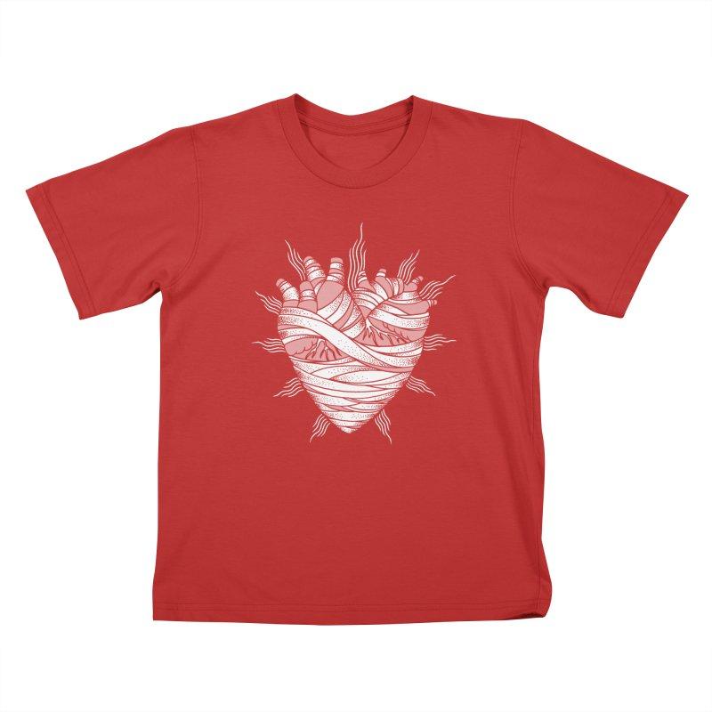 Heart of the Mummy Kids T-Shirt by pesst's Artist Shop