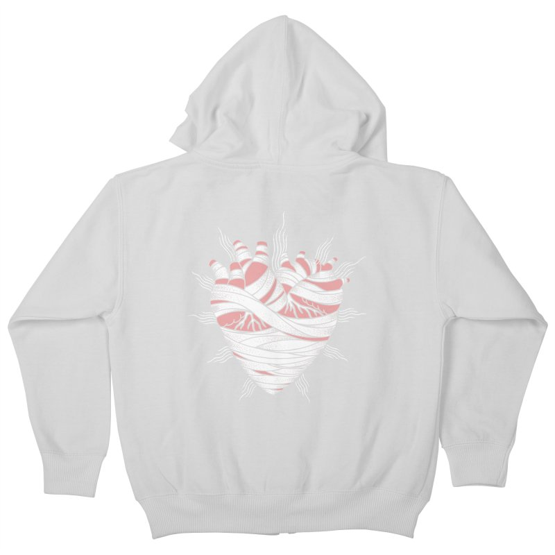 Heart of the Mummy Kids Zip-Up Hoody by pesst's Artist Shop