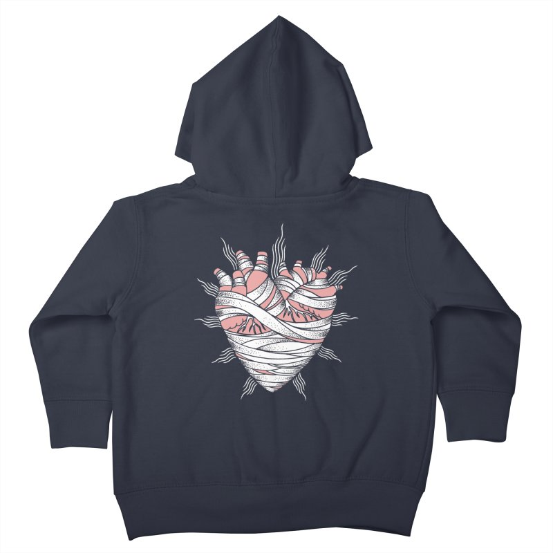 Heart of the Mummy Kids Toddler Zip-Up Hoody by pesst's Artist Shop