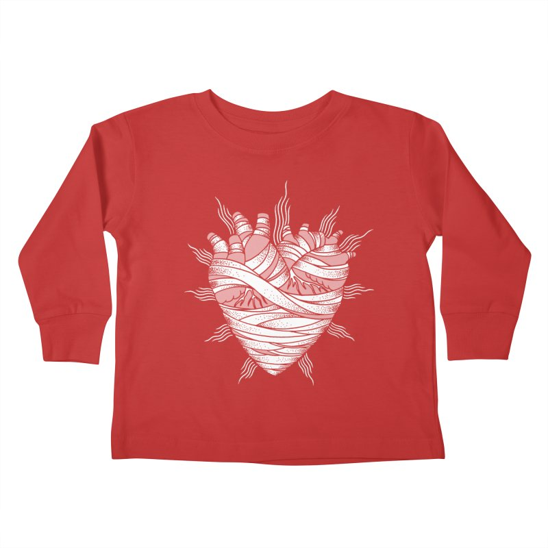 Heart of the Mummy Kids Toddler Longsleeve T-Shirt by pesst's Artist Shop