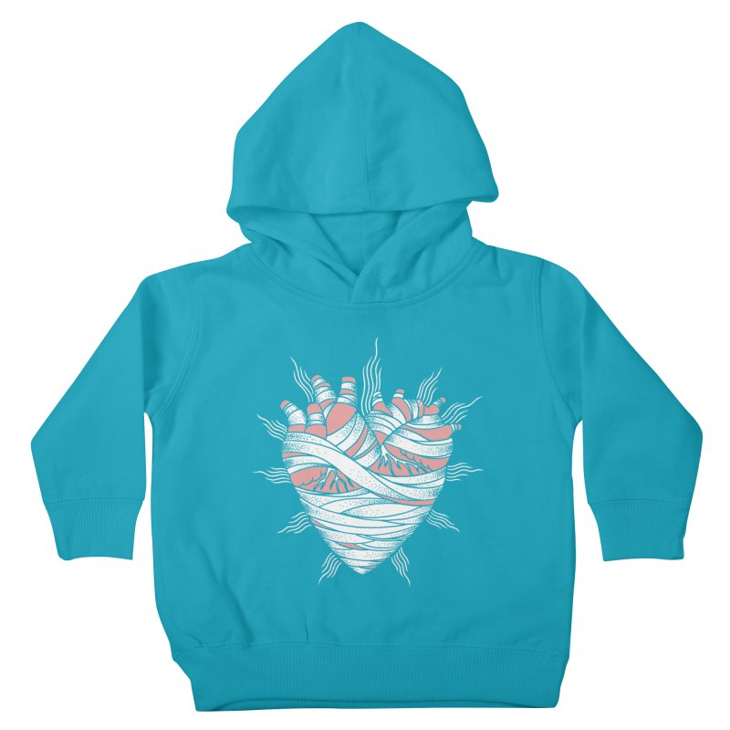 Heart of the Mummy Kids Toddler Pullover Hoody by pesst's Artist Shop