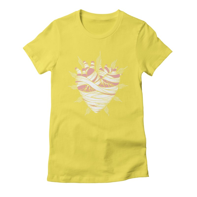 Heart of the Mummy Women's Fitted T-Shirt by pesst's Artist Shop