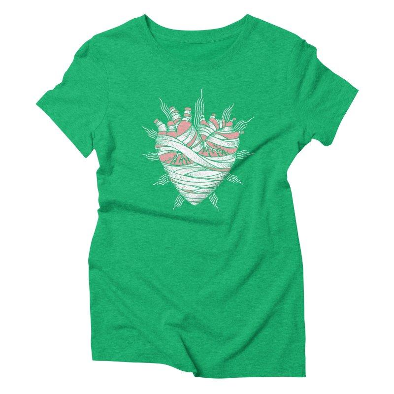 Heart of the Mummy Women's Triblend T-Shirt by pesst's Artist Shop