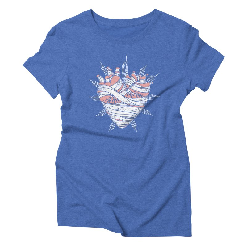 Heart of the Mummy Women's Triblend T-Shirt by pesst's Artist Shop