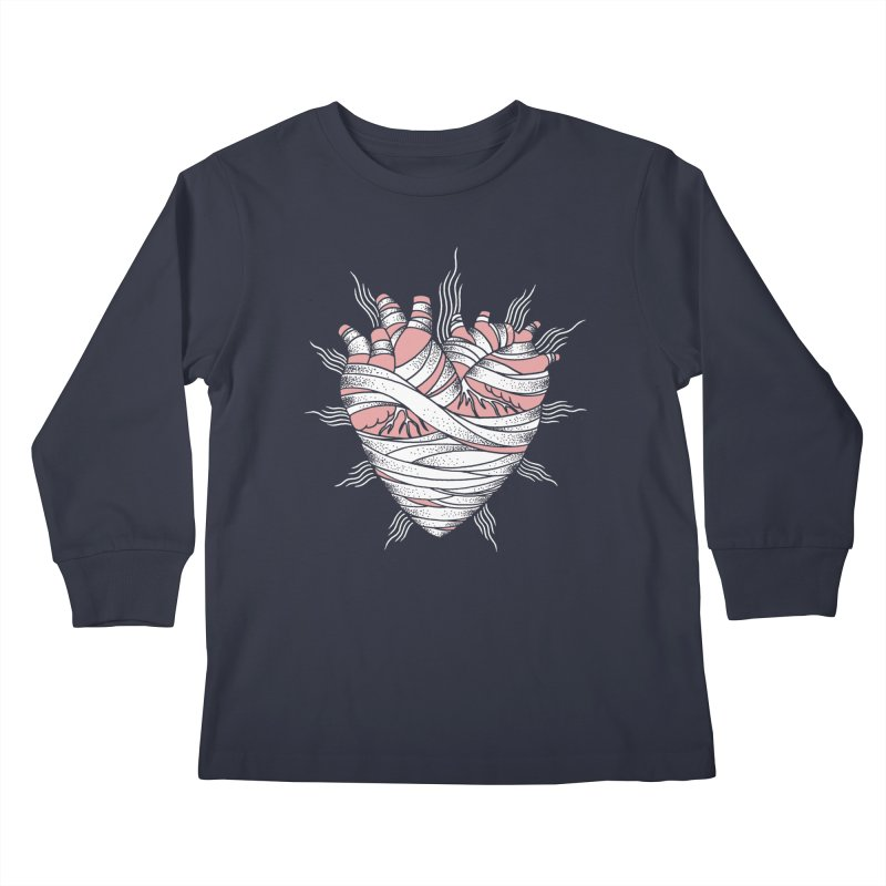 Heart of the Mummy Kids Longsleeve T-Shirt by pesst's Artist Shop