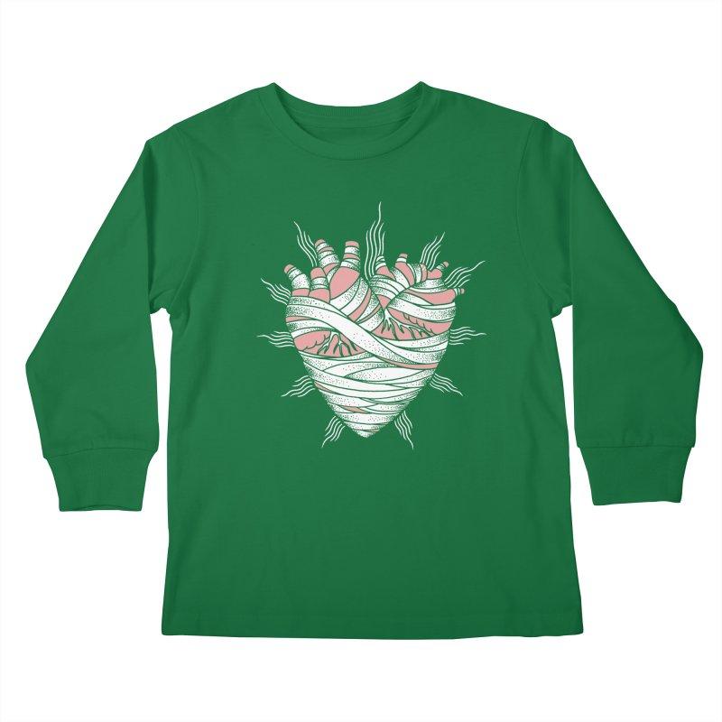 Heart of the Mummy Kids Longsleeve T-Shirt by pesst's Artist Shop
